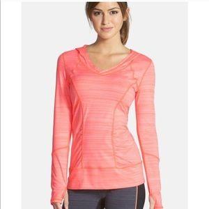 ZELLA Pink Long Sleeve Hooded Light Sweatshirt